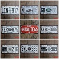 15x30 cm vintage license plates WORLD FAMOUS BRAND CAR LICENSE PLATES  retro iron painting wall sticker number plate metal craft