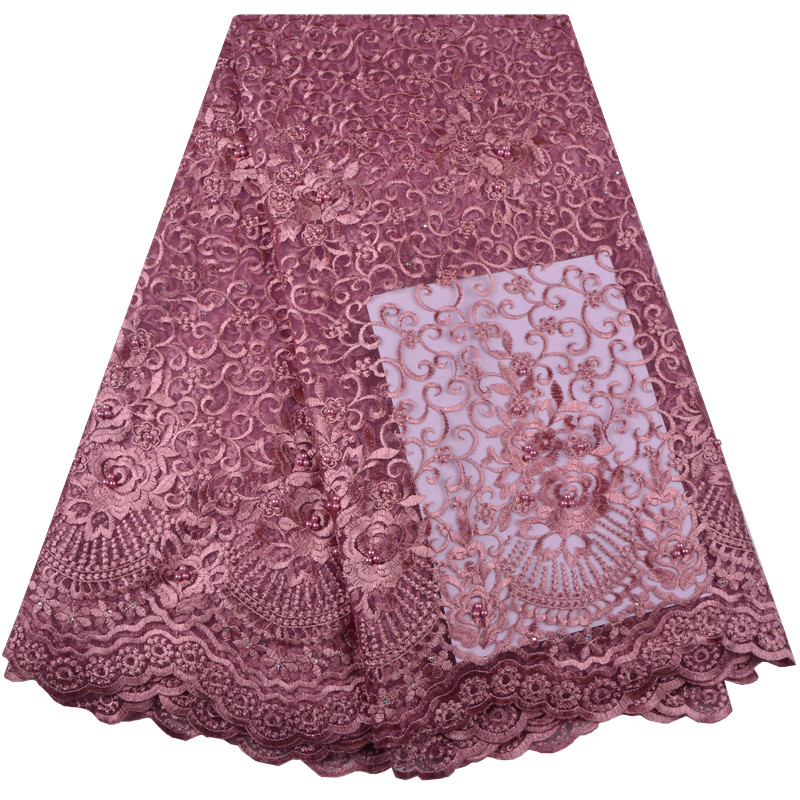 2019 African Lace Fabric African Tulle Lace France Net lace Mesh Fabric for Fashion Nigerian Dress