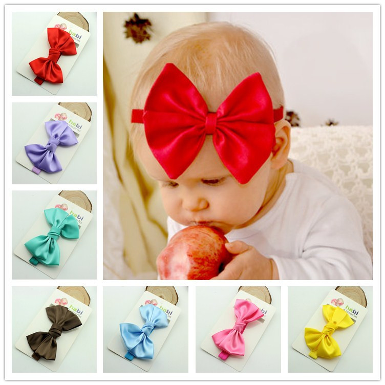 Baby Headband Ribbon bowknot Toddler Infant Kids Hair Accessories Girl Handmade Bows Photography Turban Elastic Newborn 20pcs cute hair bows boutique alligator clip grosgrain ribbon for girl baby kids t026