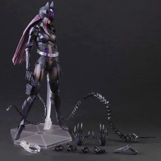 25cm Final Fantasy Catwoman Play Arts Kai PVC Action Figure Doll Collectible Model Toy With Box
