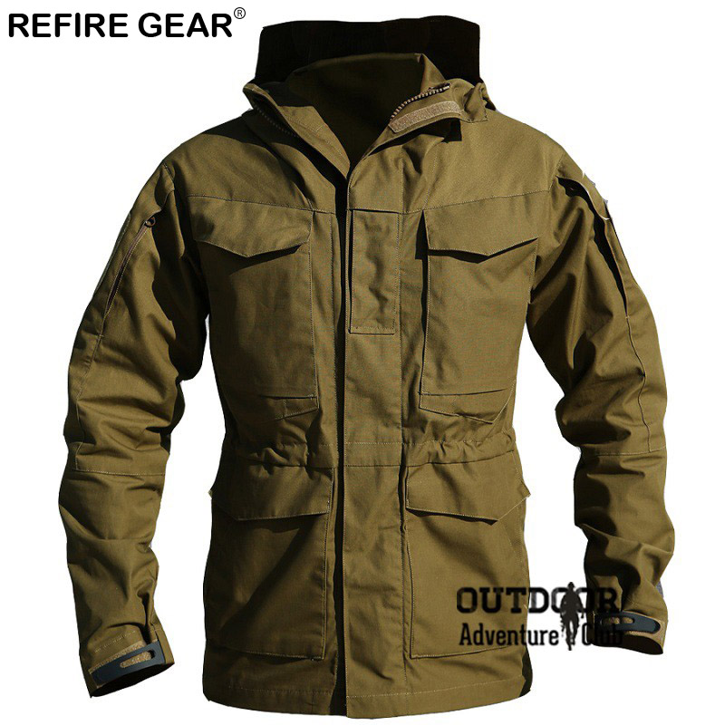 M65 Outdoor Hiking Clothes Windbreaker Jackets Men Winter Autumn Waterproof Coat Hoodie  ...