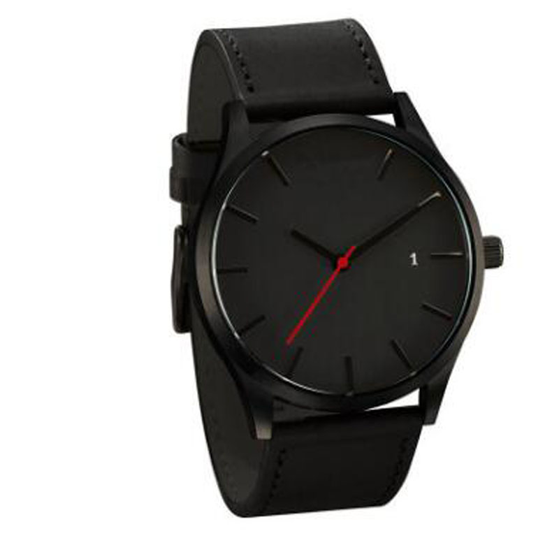 Newly Designed Watches Men Simple Buckle Watches Men Sport Leather Casual Quartz Wristwatches Relogio Masculino Hot