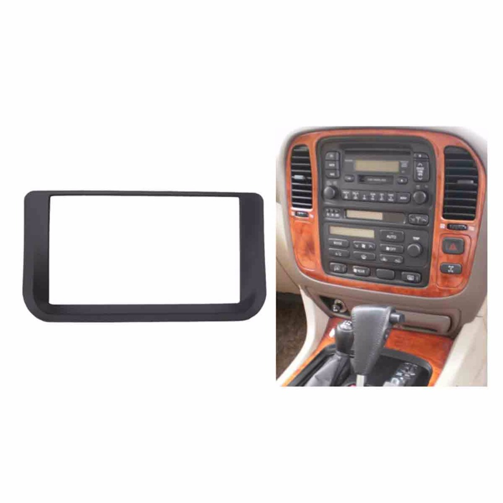 hight resolution of double din radio fascia for lexus lx470 toyota lc100 stereo panel dash cd trim installation kit frame facia in fascias from automobiles motorcycles on