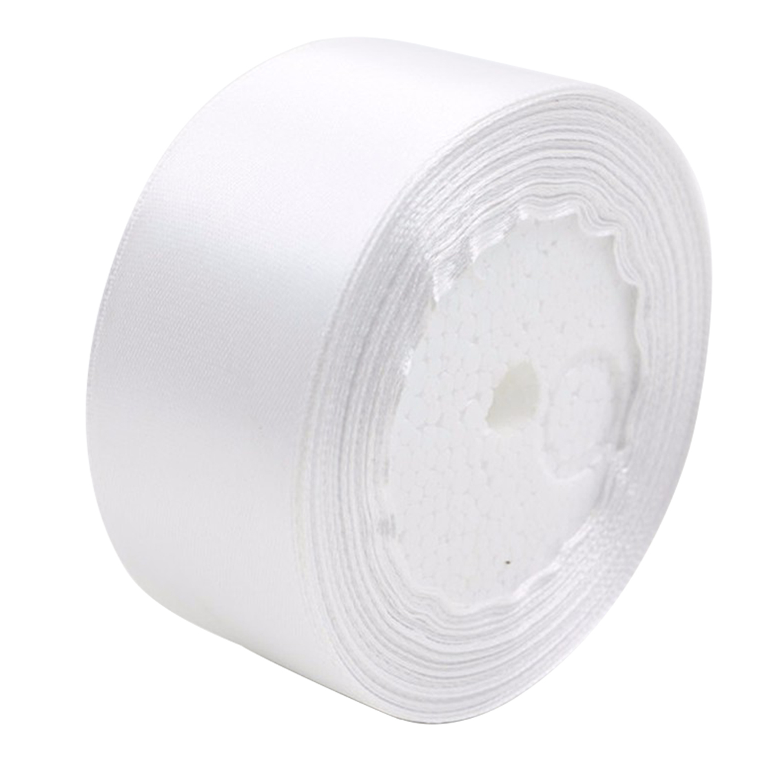 PF 1 roll 40mm 22 Meters silk satin ribbon for wedding party white