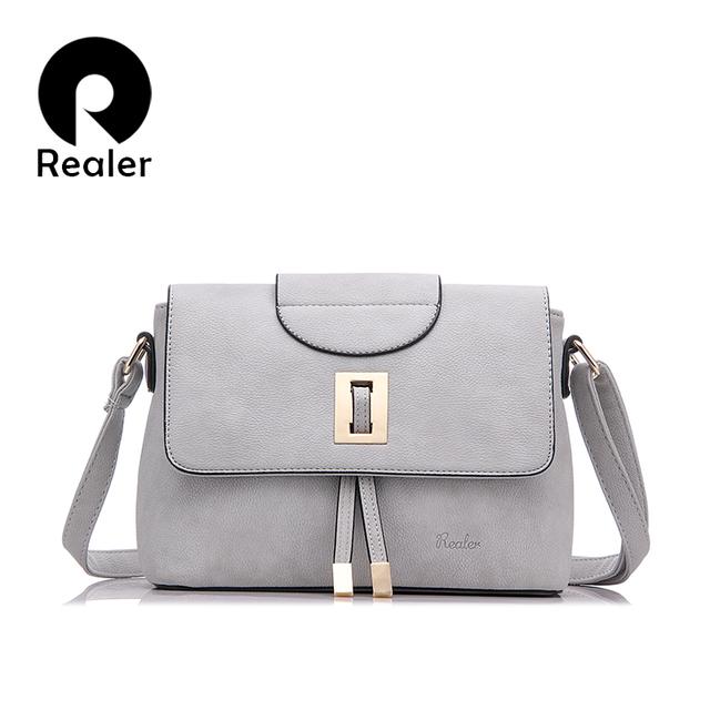 Realer Brand New Shoulder Bag Artificial Leather