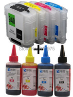 940 hp940 940XL cartucho de TINTA Recarregáveis para HP Officejet Pro 8000 8500 8500A + para hp Premium Corante 4 Cores de Tinta 400 ML ink hp ink cartridge refill brother ink hair -