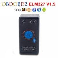 Mini ELM327 Bluetooth V1.5 güç anahtarı ile çalışır üzerinde Symbian/Android/Windows OBD2/OBDII teşhis tarayıcı ücretsiz kargo