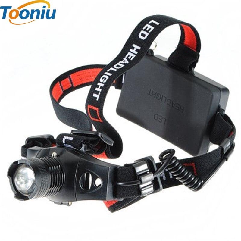 Mini Zoomables Projecteur LED Rechargeable Phare CREE XPE Q5 lampe de Poche Head light étanche 18650 OU AAA Camp de chasse De Pêche