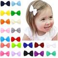 20pcs/lot 2.75'' Boutique Ribbon Bow Hair Clip Barrettes Baby Hair Bows Hairpins Girls Clips Diy Children Hair Accessories CH92