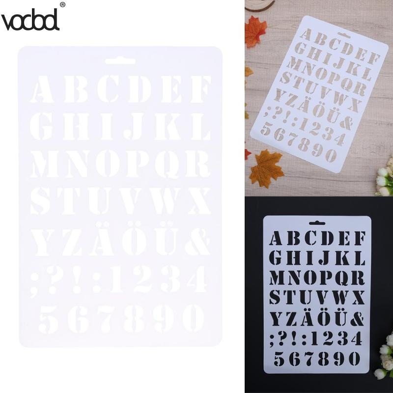 Letter Alphabet Number Layering Stencils For Wall Scrapbooking Painting Template Stamps Photo Album Pochoir Cards Crafts Decor #6