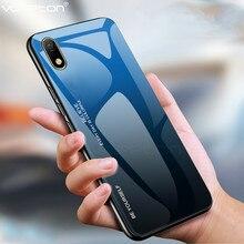 Dla Honor 8 S 8 S przypadku gradientu szkło hartowane twardy futerał TPU silikonowa rama twarde szkło tylna pokrywa dla Huawei Y5 2019 odporny na wstrząsy