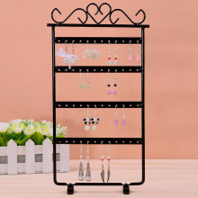 Iron Four Layer Earrings Jewelry Standing Rack Shelf Jewelry Storage Rack Holder Jewelry Organizer Metal Stand Organizer Holder