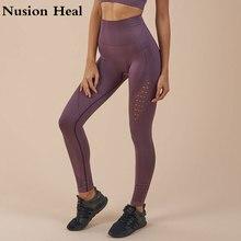 19 Super Stretchy Gym Tights Energy Seamless Tummy Control Yoga Pants High Waist Sport Yoga Leggings Purple Running Pants Women цена 2017