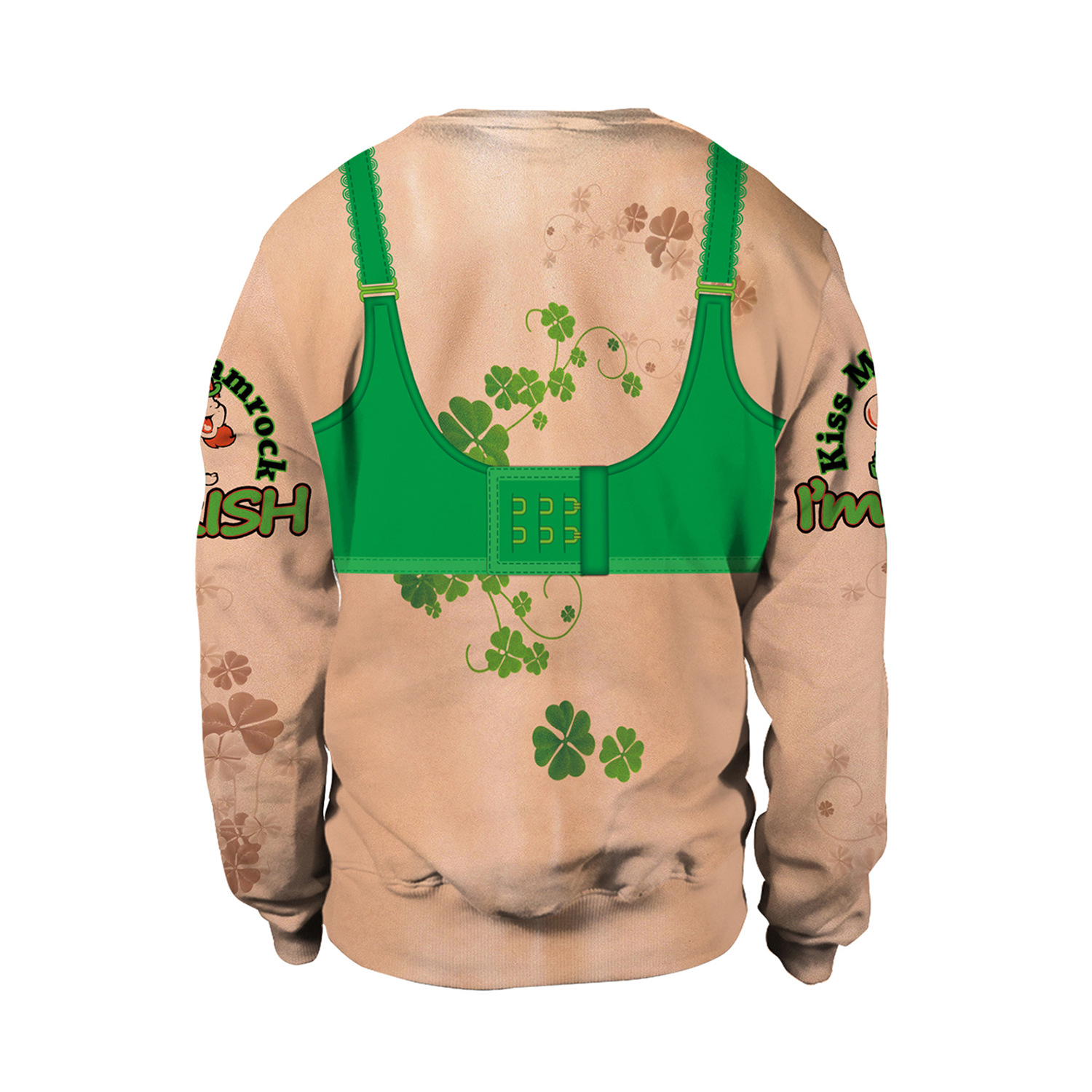 Irish Festival Party Dinner hoodies Street Wild Round Neck Long Sleeve hoodies