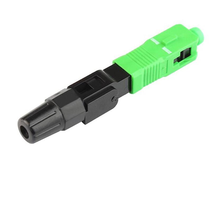 0.3db 50 Pcs Ftth Sc Apc Single-mode Glasvezel Sc Apc Quick Connector Fiber Optic Snelle Gratis Verzending