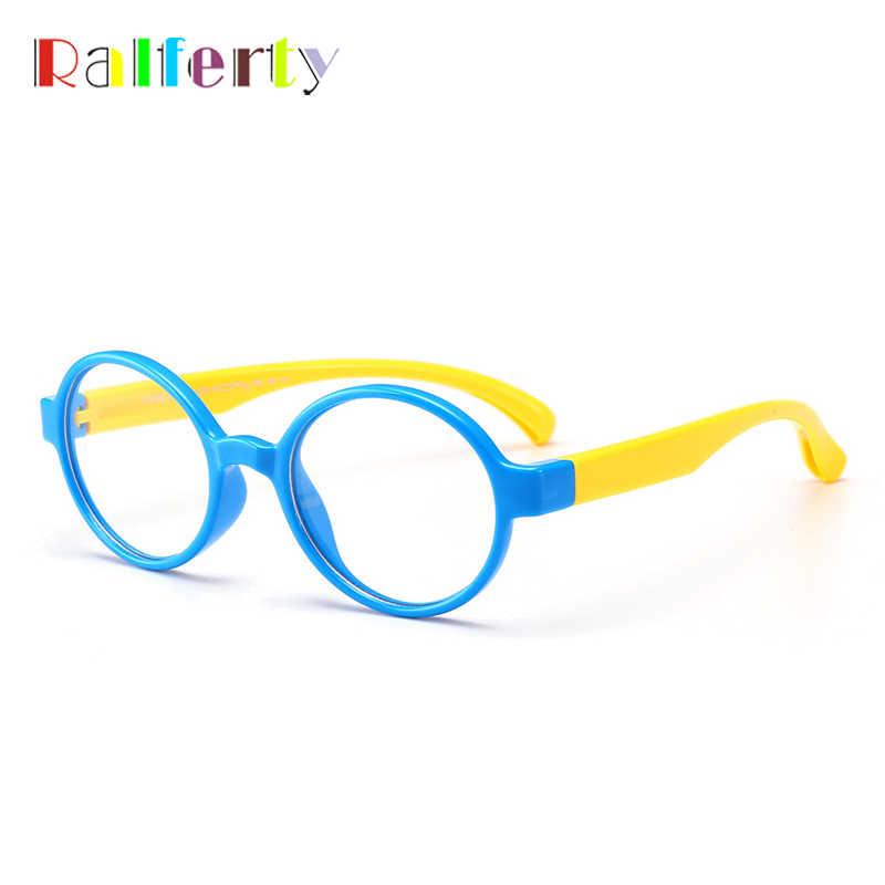 80f70a8a2ae9a ... Ralferty Retro Kids Round Glasses Frame Child TR90 Flexible Eyewear  Frames Eyeglasses For Myopia Prescription Girl ...