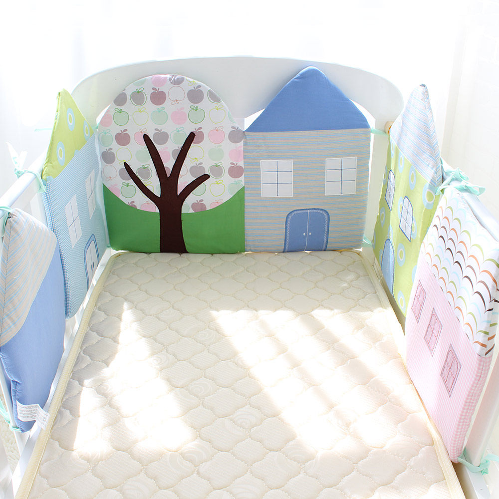 d6b40ffe8cd1 Baby Bed Bumper Soft Skin-Friendly Cot Bumper Cotton Baby Bed ...