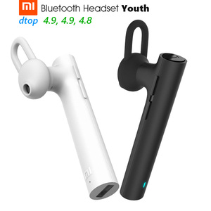 Image 1 - Original Xiaomi Bluetooth Headset Youth Version Wireless Earphone Handfree HD Calling 6.5g 3 Size Buds 3 Buttons Mic