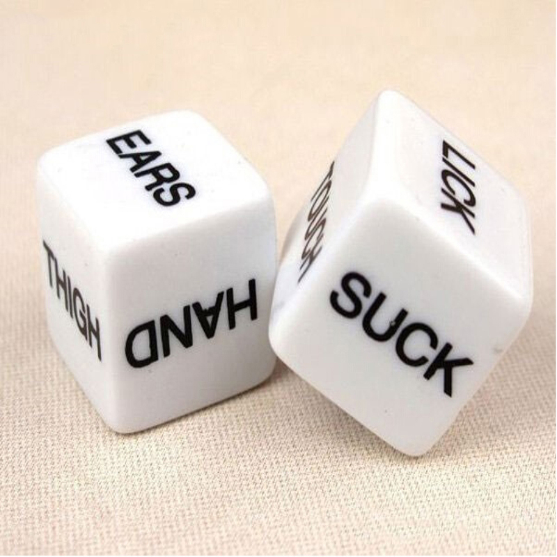2 PCS Funny Sex Dice Toy Romance Love Humour Party Gambling Adult Games Sex Toys Erotic Craps Pipe For Couples SM