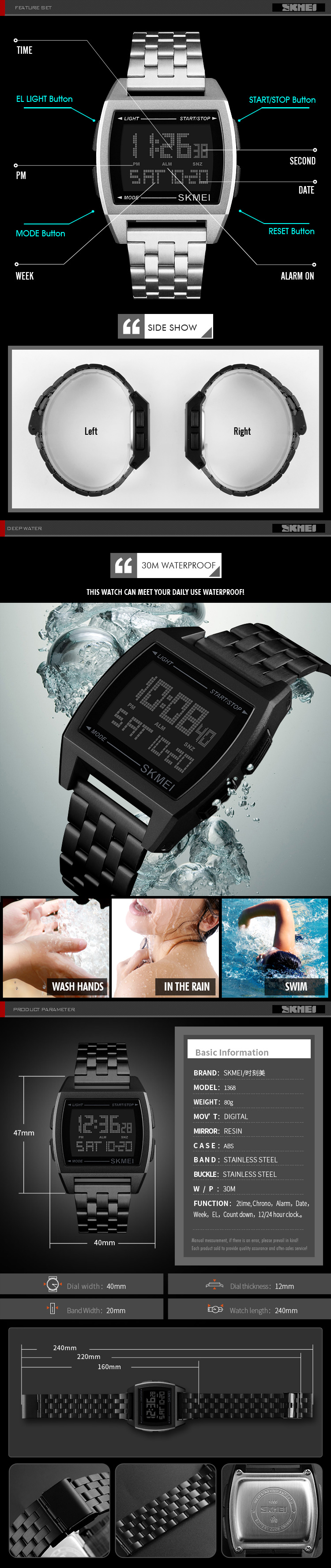 BLADE -  LED Digital Sports Watch for Men
