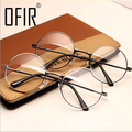 Женщины Старинные Очки Кадр Равнине Зеркало Большой Круглый Металлический Оптический рамка Для Девушки Очки Прозрачные Линзы óculos feminino де грау AL-2