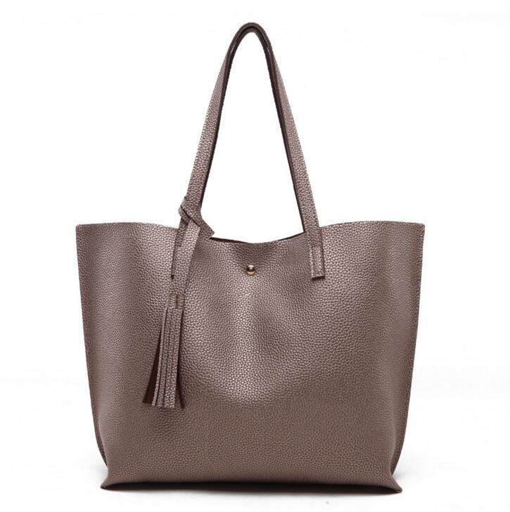 2018 new lychee grain size lady handbag tassel shoulder bag.