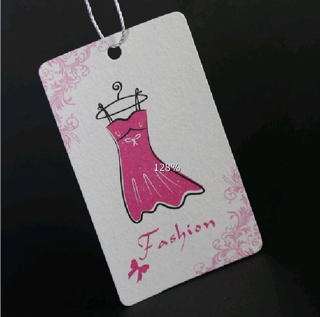 custom women dress hang tag printing good paper clothing tag