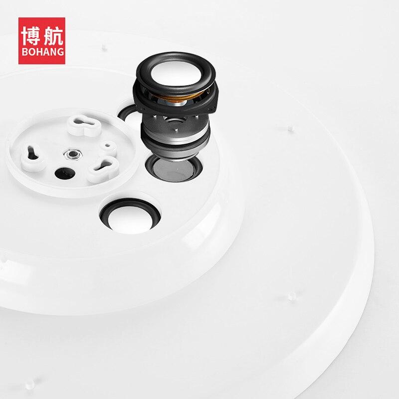 Moderno led luzes de teto pode ser escurecido 36 w 48 72 app controle remoto bluetooth música luz alto falante foyer quarto lâmpada do teto inteligente - 4