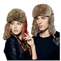 Kenmont Winter Unisex Women Men Natural Rabbit Fur Duck Down Ski Warm Trapper Russia Aviator Bomber Hat Cap 2327