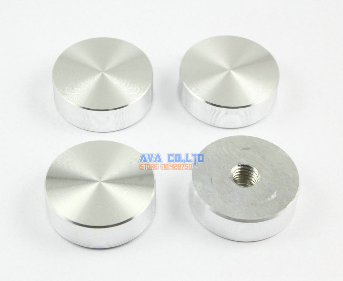 Merveilleux 12 Pieces 29*10*M8 Aluminum Disc Glass Table Top Adapter Attaching Circle  Decoration