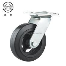 1PCS 6 inch Swivel Plate PVC Wheel 150mm Heavy Duty Industrial Casters
