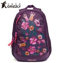 Гризли дети мультфильм ранцы детские ортопедические школьные рюкзаки для девочек Водонепроницаемый начальной школы Bookbags для Класс 1-4 года