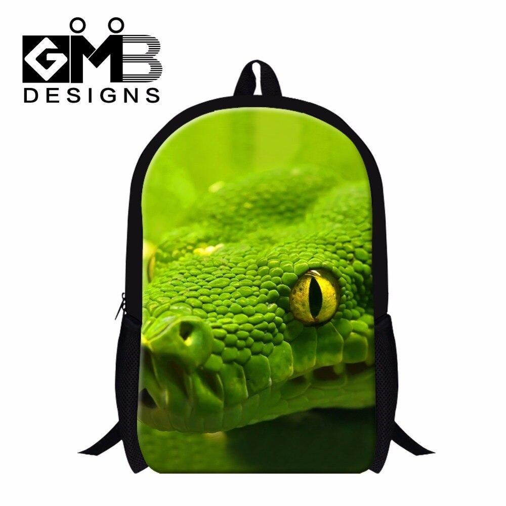 Snake School Bags for Teenager Girls,Cool Animal Backpacks for Children,Boys Day Pack,Cute Mochila Bookbags for Primary Student