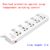 UK standard EU Power outlet Table top kitchen extension cord socket, Overload protected Switch independent control prevent surge