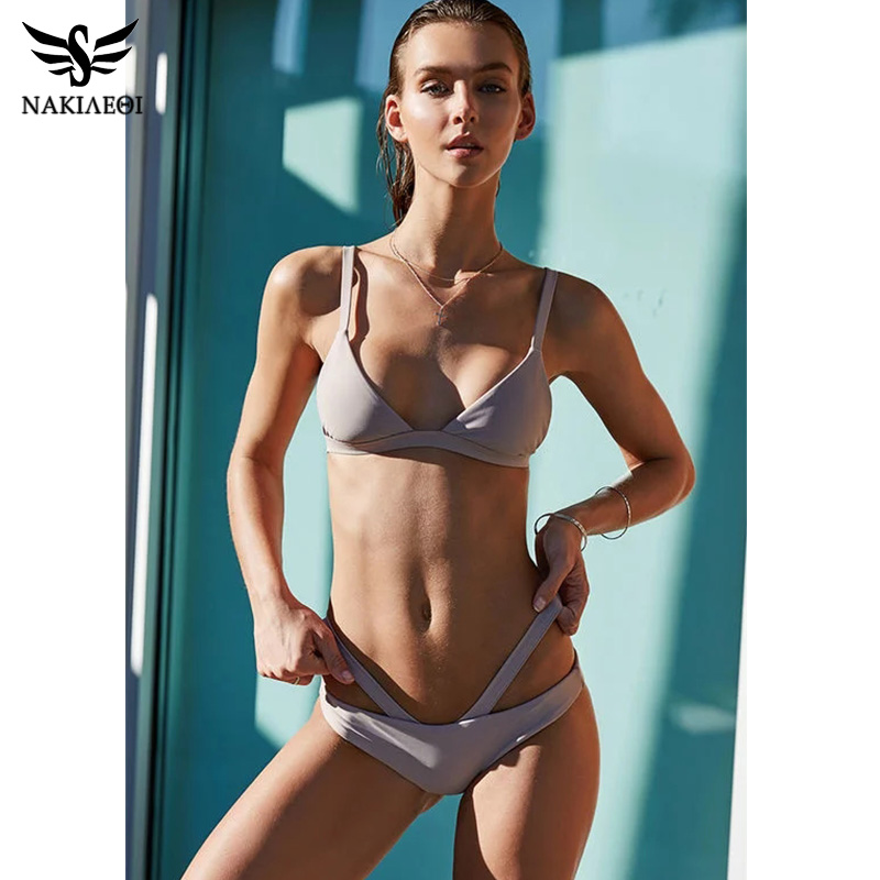 NAKIAEOI 2019 New Sexy Mini Micro Bikini Swimwear Women Swimsuit Bandage Brazilian Bikini Set Beach Bathing Suits Biquini S~XL Bikini Set    - AliExpress