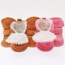 Щенок Обувь Теплые Ботинки Зимние Ботинки Собака Кошка Обувь Для Собак Чихуахуа Новый