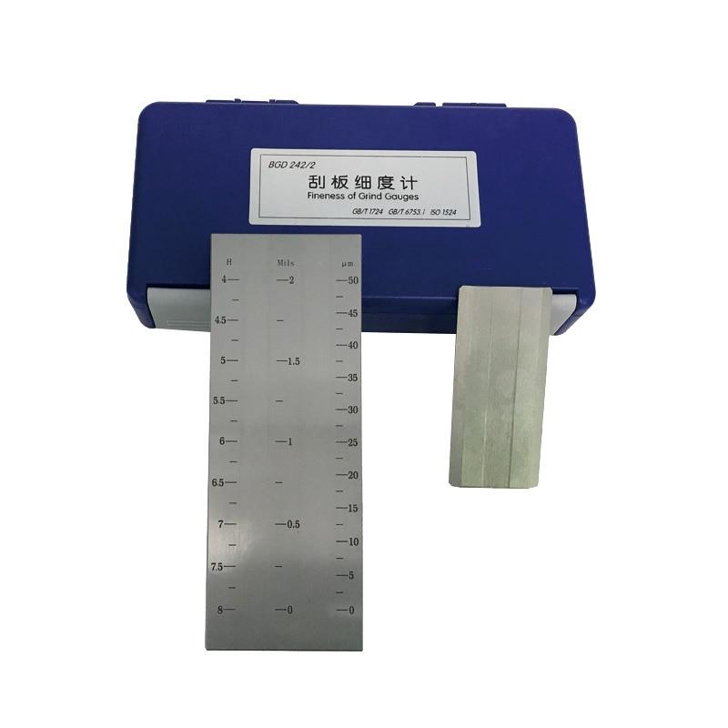 BGD242/2 (0-50um) Double Groove Fineness Of Grind Gauge Division Value 2.5um Grindometer Use For Paint