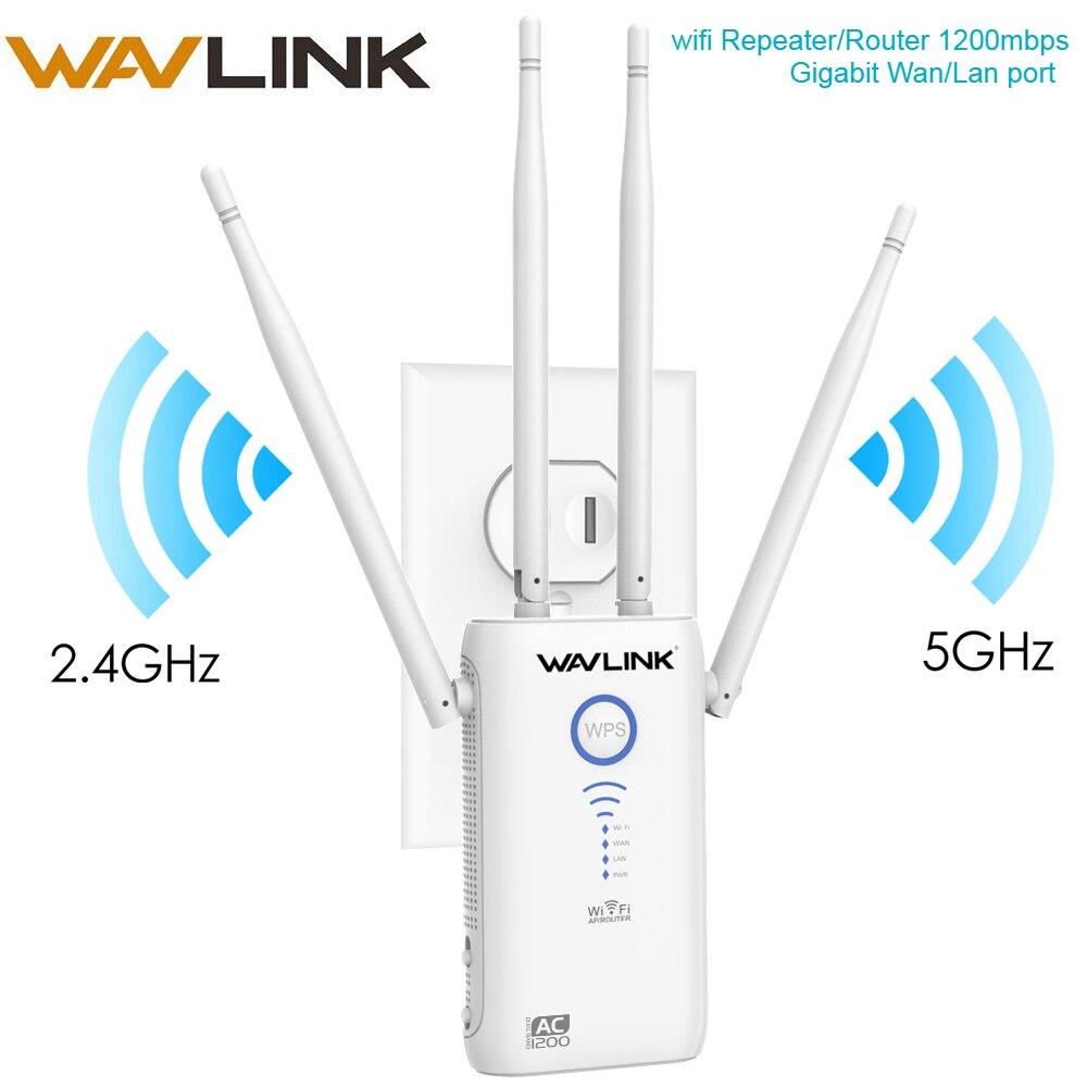 Répéteur Wifi 1200 Mbps extension de gamme WI-FI/Point d'accès pont wifi double bande 2.4G & 5G avec routeur sans fil Gigabit WAN/LAN