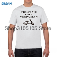 GILDAN Small Motorcycles Scooters Electric Vehicle I AM A VESPA MAN T Shirt Top Lycra Cotton