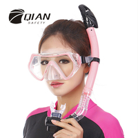QIAN SAFETY Professional Scuba Diving Equipment Full Face Liquid Silicone Spearfishing Mask Easybreath Snorkeling High Quality