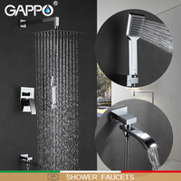GAPPO shower faucets bathroom shower tap bathtub mixer waterfall bath shower bathroom shower faucet