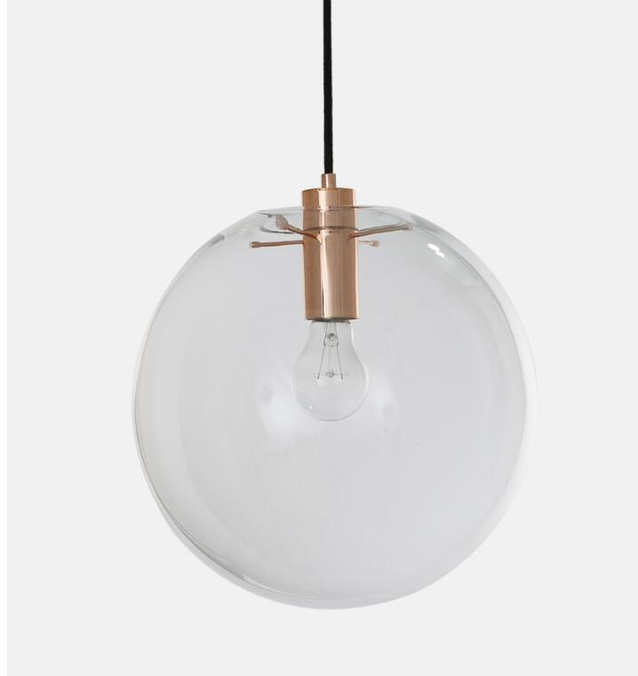 New Arrival Nordic American Style E27 Edison Bulb Loft Vintage Pendant Light, Round Ball Transparent clear Glass Pendant Lamp 2016 decorative dove design transparent glass pendant light vintage edison light north european style village glass