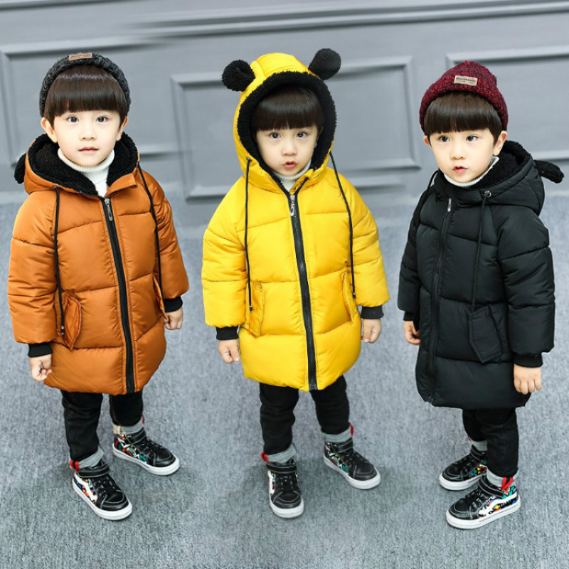 Baby Boys Cotton Long Sleeve Coat Boy Masked Zipper Hoodie Cute Ear Newborn Jacket Zipper Jacket Warmth Thick Cotton 2-8 Ages цена 2017
