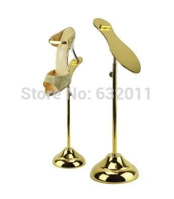 Titanium Gold Shoe Display Stand Metal Shoe Riser Stand Shoe Stand Sandal Riser Sandal Display