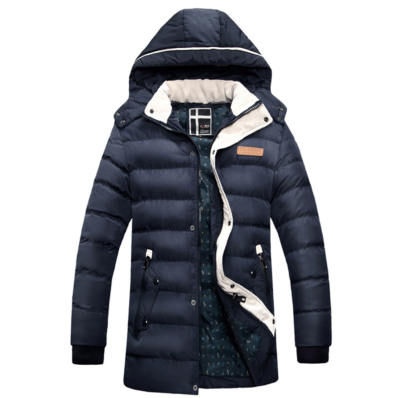 Hot Sale Winter jacket men fashion cotton coat warm parka homme men's causal Outwear hoodies clothing mens jackets and coats hot sale cotton solid men tank top