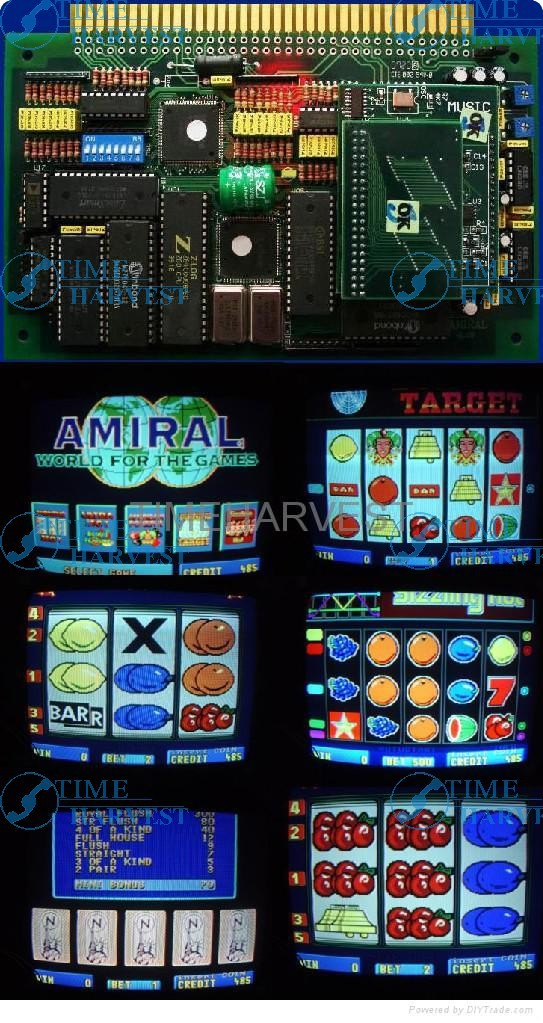 10pcs HOT SPOT AMIRAL casino game pcb with one screen for slot arcade game machine for coin operated game arcade cabinet machine 25 or 29 wei ya arcade chassis for arcade machine amusement cabinet coin operated game machine accessories parts spare parts