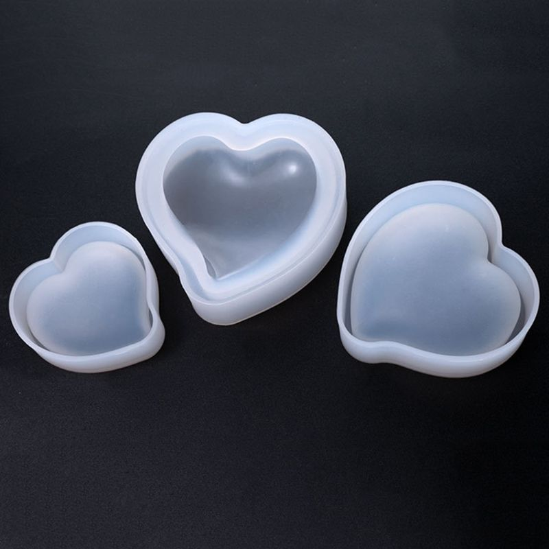 Heart Shape Jewelry Mold Handmade DIY Pendant Necklace Making Model Mould Parts Decoration