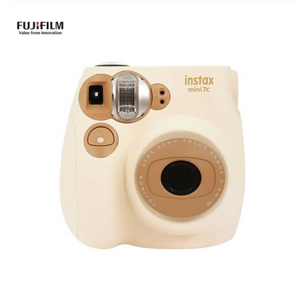 2 Color Fujifilm Instax Mini 7C Camera Coffee and Pink Color for Polaroid Instant Photo Camera Film 1