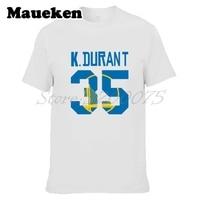 Мужчины KD 35 Кевин Дюрант футболка одежда футболка мужская футболка для фанатов подарок круглым вырезом W17112812