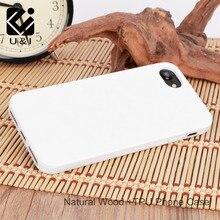 U & i Персонализация пустой белого дерева мобильный телефон случае, деревянные крышка Капа для iPhone 5 5S 6 6 S 6 Plus 7 7 Plus shockspoof Coque
